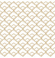 abstract white and golden seamless pattern vector image