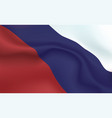 background russian flag in folds tricolour vector image vector image