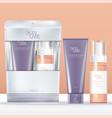 beauty travel kit set tube foam pump vector image vector image