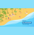 best holiday resort isometric poster vector image