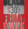 black friday clearance sale realistic vector image vector image
