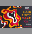 black friday final discounts sale poster vector image vector image