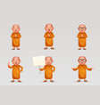 buddhist cute monk traditional asian buddhist vector image vector image