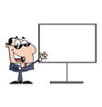 Business presentation cartoon vector image vector image