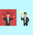 businessman find idea confused business worker vector image