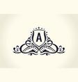 calligraphic luxury line flourishes elegant emblem