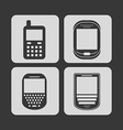 cellphone icons vector image