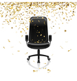 chair with confetti vector image vector image