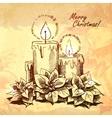 Christmas hand drawn for xmas design vector image vector image
