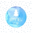 Christmas tree New Years background vector image vector image