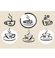 coffe tea menu vector image vector image