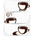 Cup of coffee or tea with floral design elements vector image