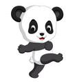 cute funny baby panda vector image vector image
