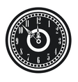 dark vintage clock timer midnight new year vector image