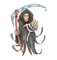 Death reaper with scythe Halloween symbol vector image