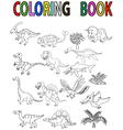 Dinosaur coloring book vector image vector image