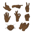 Drawn hands A set of hands and fingers vector image vector image