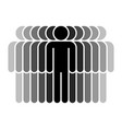 eleven human sign people symbol vector image vector image