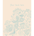 Floral background summer theme greeting card vector image vector image