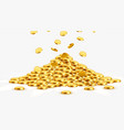 gold shiny coins with star signs in heap big vector image vector image