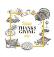hand drawn thanksgiving vector image vector image