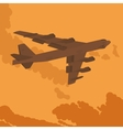 Heavy bomber in the sky vector image vector image