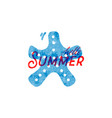 hello summer retro sign badge banner template vector image vector image