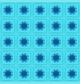 hibiscus seamless pattern blue background vector image vector image