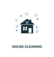 house cleaning icon creative two colors design vector image