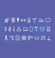 icon set for shops goods different categories vector image vector image