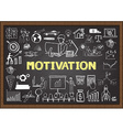 inspiration on chalkboard vector image vector image