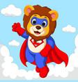 lion superhero cartoon vector image vector image