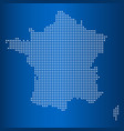 matrix map of france vector image