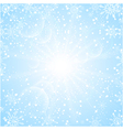 Merry Christmas Background with sun snowflakes vector image vector image
