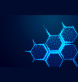 molecule structure icon form lines and triangles vector image