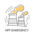 npp emergency isolated icon plant or factory vector image