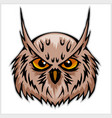 owls head mascot vector image