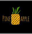 pineapple sketch for your design vector image vector image