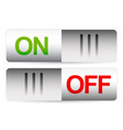power turn on turn off buttons switches template vector image