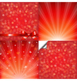 red backgrounds set with bokeh vector image