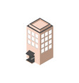 residential high building isometric style vector image