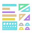 Ruler icons vector image vector image