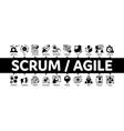 scrum agile minimal infographic banner vector image