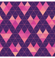 Seamless Pattern - Geometric Hearts vector image vector image