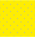 seamless pattern with grey polka dots on yellow vector image vector image