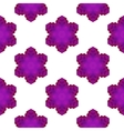 Seamless Pink Snowflake Pattern vector image vector image