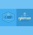 set of cyber security identity badges and signs vector image vector image