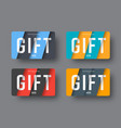 set of gift cards in a modern style of material vector image vector image