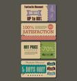 set sale labels paper tags vintage design vector image vector image