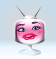 Sexy cartoon retro TV character vector image vector image